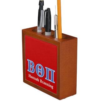 Beta Theta Pi Blue Letters Desk Organiser