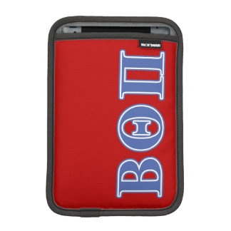 Beta Theta Pi Blue Letters iPad Mini Sleeve