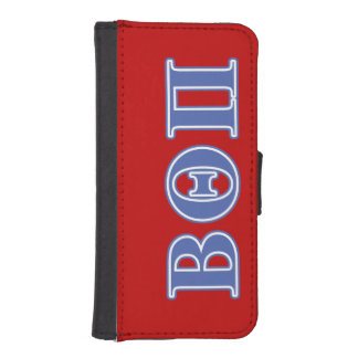 Beta Theta Pi Blue Letters iPhone SE/5/5s Wallet Case
