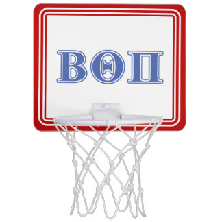 Beta Theta Pi Blue Letters Mini Basketball Hoop