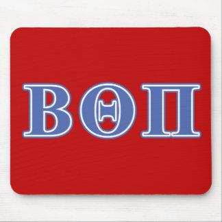 Beta Theta Pi Blue Letters Mouse Mat