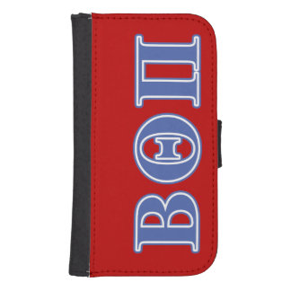 Beta Theta Pi Blue Letters Samsung S4 Wallet Case