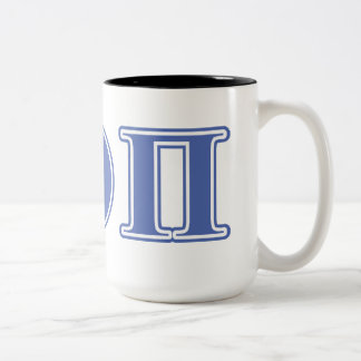 Beta Theta Pi Blue Letters Two-Tone Coffee Mug