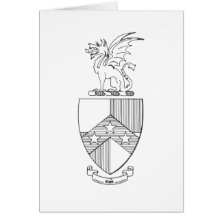 Beta Theta Pi Coat of Arms Card
