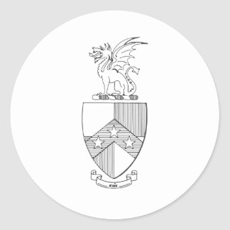 Beta Theta Pi Coat of Arms Classic Round Sticker