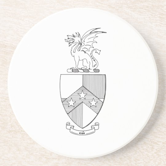 Beta Theta Pi Coat of Arms Coaster