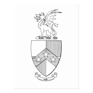 Beta Theta Pi Coat of Arms Postcard
