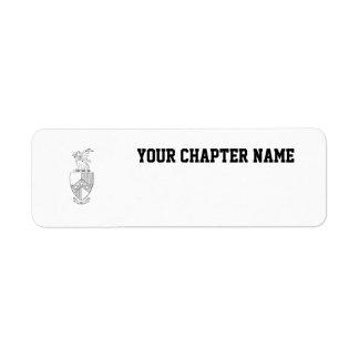Beta Theta Pi Coat of Arms Return Address Label