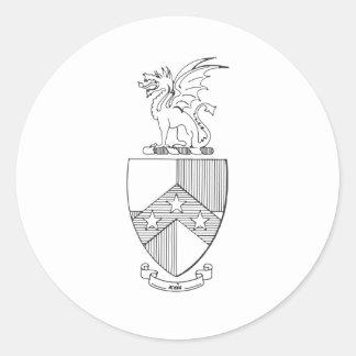 Beta Theta Pi Coat of Arms Round Sticker