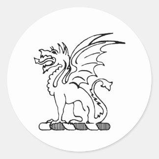 Beta Theta Pi Crest Classic Round Sticker