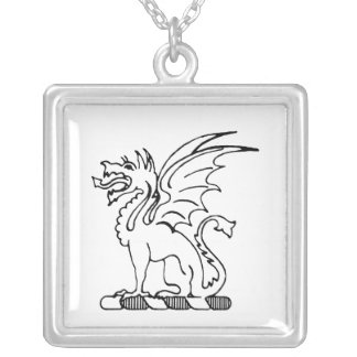 Beta Theta Pi Crest Silver Plated Necklace