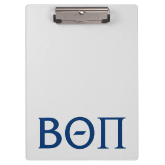 Beta Theta Pi Greek Letters Clipboard