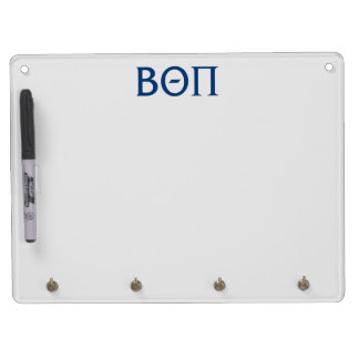 Beta Theta Pi Greek Letters Dry Erase Board With Key Ring Holder