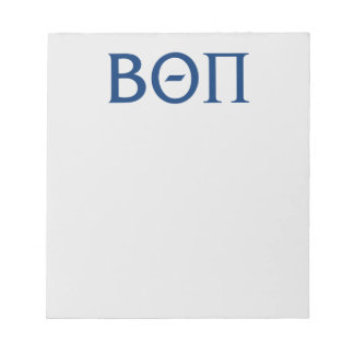 Beta Theta Pi Greek Letters Notepad