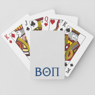 Beta Theta Pi Greek Letters Playing Cards