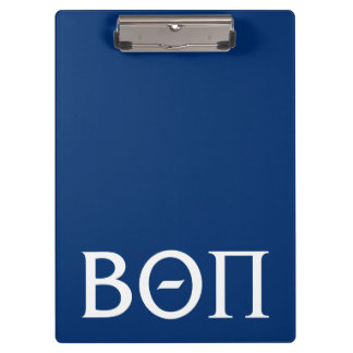 Beta Theta Pi Greek Letters - White Clipboard