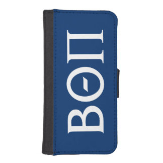 Beta Theta Pi Greek Letters - White iPhone SE/5/5s Wallet Case