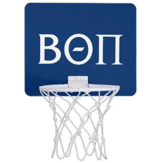 Beta Theta Pi Greek Letters - White Mini Basketball Hoop