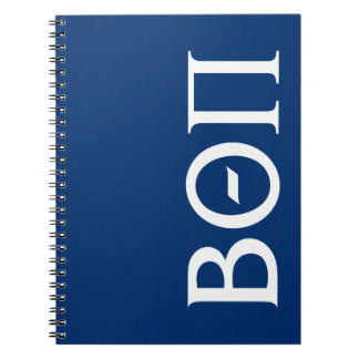 Beta Theta Pi Greek Letters - White Notebook