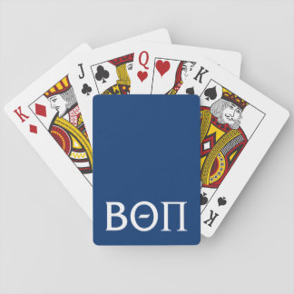 Beta Theta Pi Greek Letters - White Playing Cards