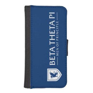 Beta Theta Pi Men Of Principle - White iPhone SE/5/5s Wallet Case