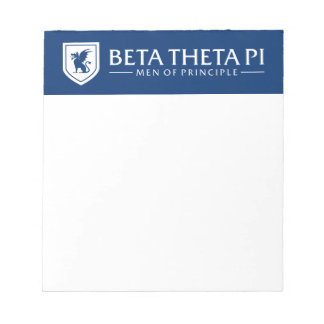 Beta Theta Pi Men Of Principle - White Notepad