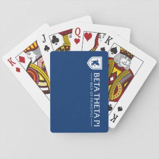 Beta Theta Pi Men Of Principle - White Playing Cards