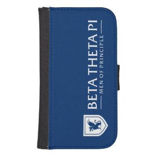 Beta Theta Pi Men Of Principle - White Samsung S4 Wallet Case