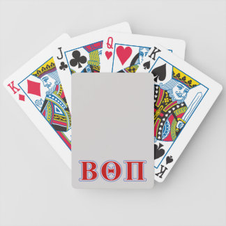 Beta Theta Pi Red and Blue Letters Bicycle Playing Cards