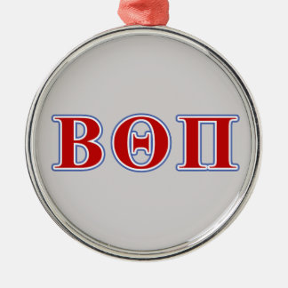 Beta Theta Pi Red and Blue Letters Christmas Ornament
