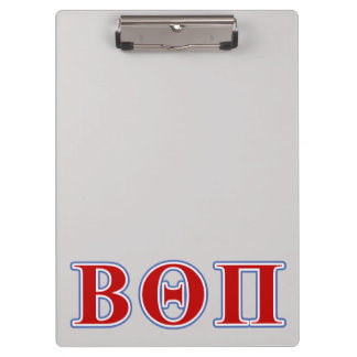Beta Theta Pi Red and Blue Letters Clipboard