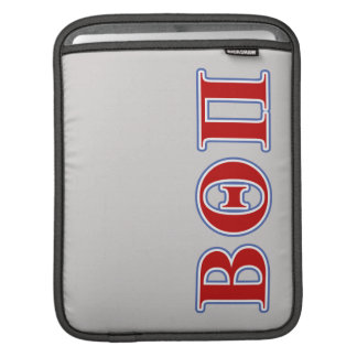 Beta Theta Pi Red and Blue Letters iPad Sleeve