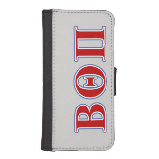 Beta Theta Pi Red and Blue Letters iPhone SE/5/5s Wallet Case