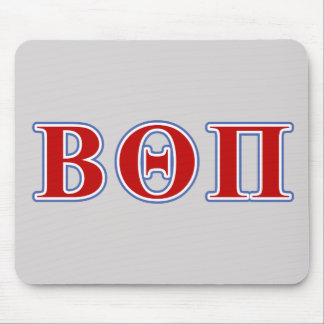 Beta Theta Pi Red and Blue Letters Mouse Mat