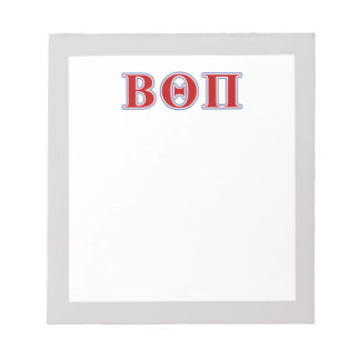 Beta Theta Pi Red and Blue Letters Notepad