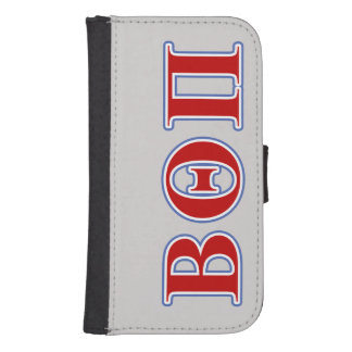 Beta Theta Pi Red and Blue Letters Samsung S4 Wallet Case