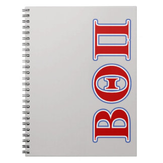 Beta Theta Pi Red and Blue Letters Spiral Notebook