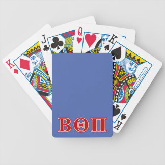 Beta Theta Pi Red Letters Bicycle Playing Cards