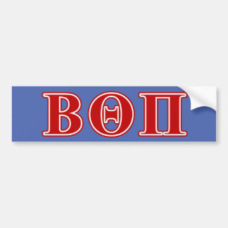 Beta Theta Pi Red Letters Bumper Sticker