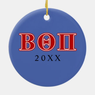 Beta Theta Pi Red Letters Christmas Ornament