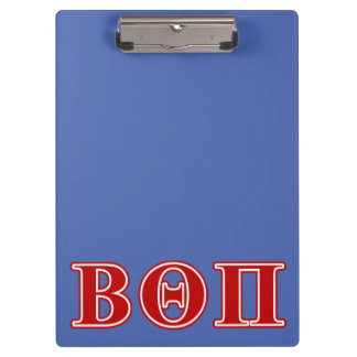 Beta Theta Pi Red Letters Clipboard
