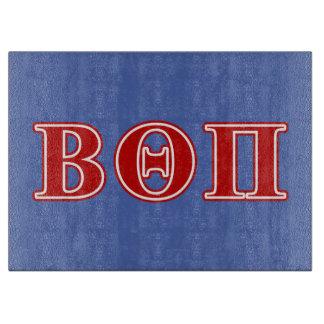 Beta Theta Pi Red Letters Cutting Board