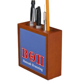 Beta Theta Pi Red Letters Desk Organiser