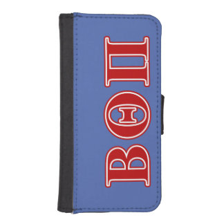 Beta Theta Pi Red Letters iPhone SE/5/5s Wallet Case