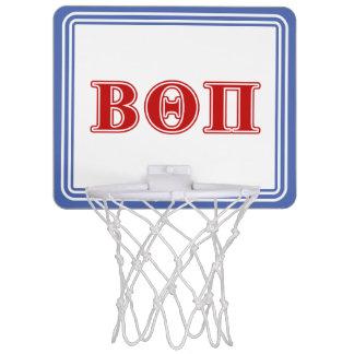 Beta Theta Pi Red Letters Mini Basketball Hoop
