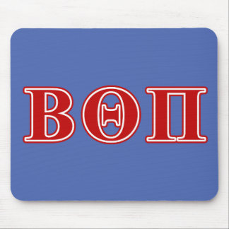 Beta Theta Pi Red Letters Mouse Mat