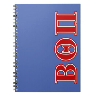 Beta Theta Pi Red Letters Notebook