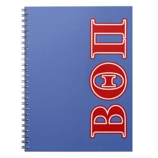 Beta Theta Pi Red Letters Notebooks