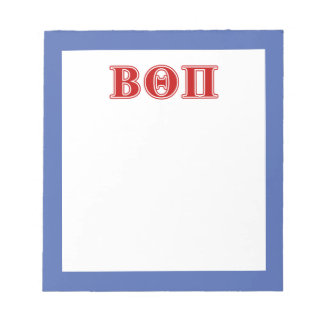 Beta Theta Pi Red Letters Notepad