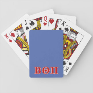 Beta Theta Pi Red Letters Playing Cards